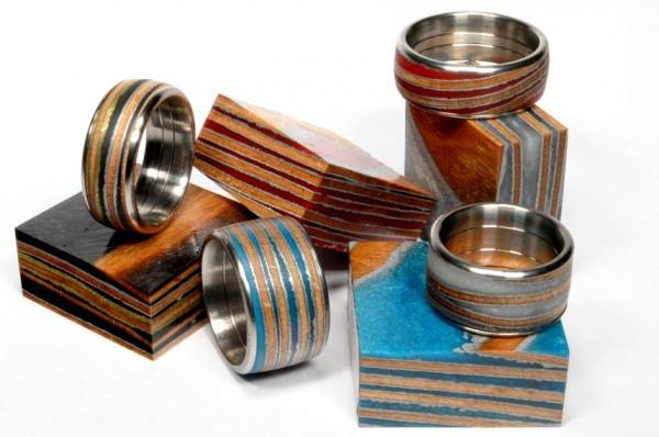 Furnier in Kunstharz für Ringe